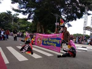 Kampanye Wonosobo Bebas Stunting dalam Karnaval Tematik 2019